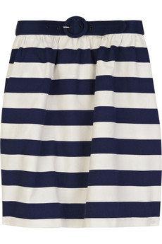 1. Alice + Olivia Striped Cotton Skirt