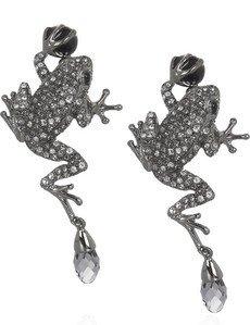 1. Roberto Cavalli Swarovski Frog Earrings