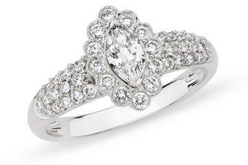 3/4 Carat Diamond 14K White Gold Bridal Engagement Ring