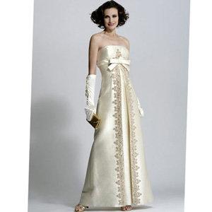 Jovani Long Destination Wedding Bandeau Dress