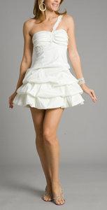 Snowy-Ivory Short Wedding Dresses