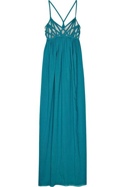 Adam Basketweave Cotton Maxi Dress