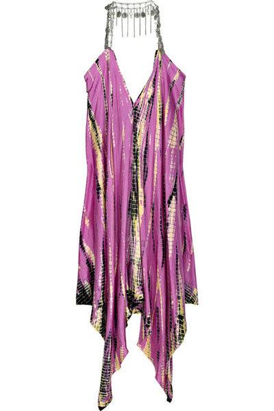 Lotta Stensson Silk Tie-dye Handkerchief Dress