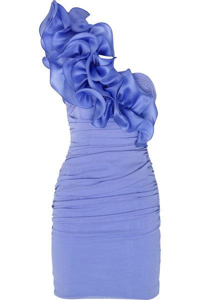 Notte by Marchesa Asymmetric Silk-chiffon Dress