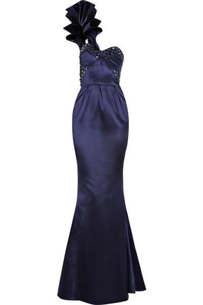 Rachel Gilbert Eva One-shouldered Gown