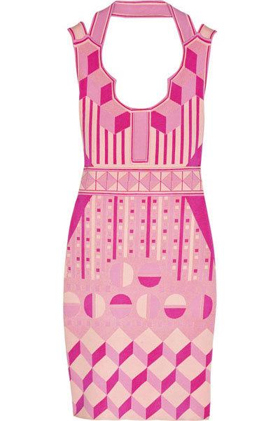 Zac Posen Stretch-knit Geometric Dress