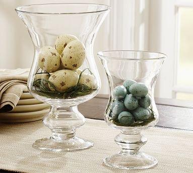 Pottery Barn Decorative Speckled Egg Vase Filler