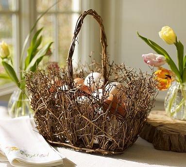 Pottery Barn Twig Easter Basket
