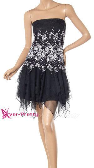 Sexy Black Pink Vogue Lace Cocktail Dress