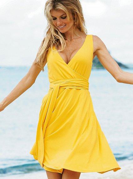 Victoria's Secret Daytime Jersey Sleeveless Wrap Dress