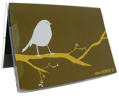 Bird on a Branch Vinyl Passport Case