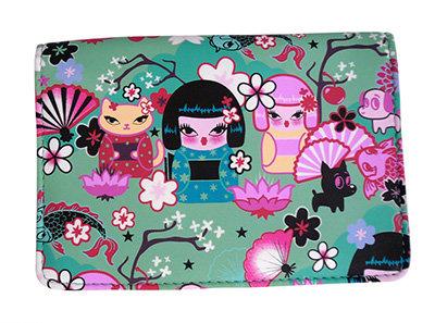 Fluff Kimono Cuties Passport Wallet