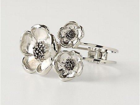 Silvered Dogwood Cuff Bracelet