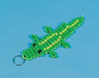 Beaded Crocodile Key Chain Craft Kit