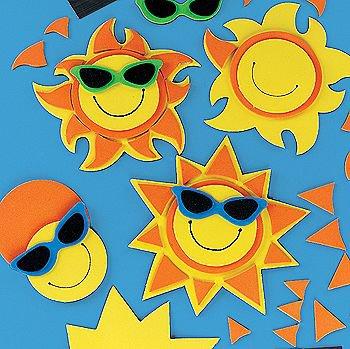 Smile Face Sun Magnet Craft Kit