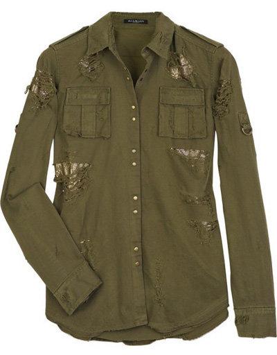 Balmain Metal-Insert Military Shirt