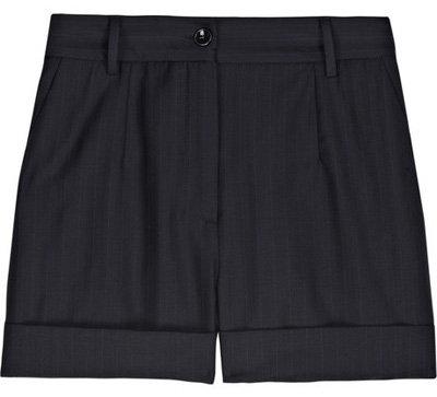 D & G Wool-Twill Pinstripe Shorts