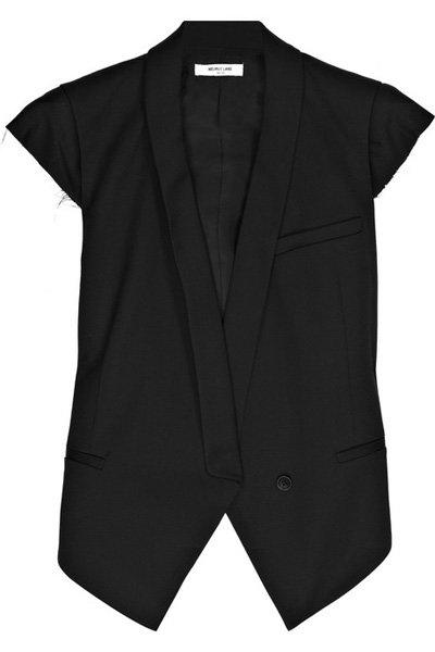 Helmut Lang Smoking Wool-Blend Tux Vest