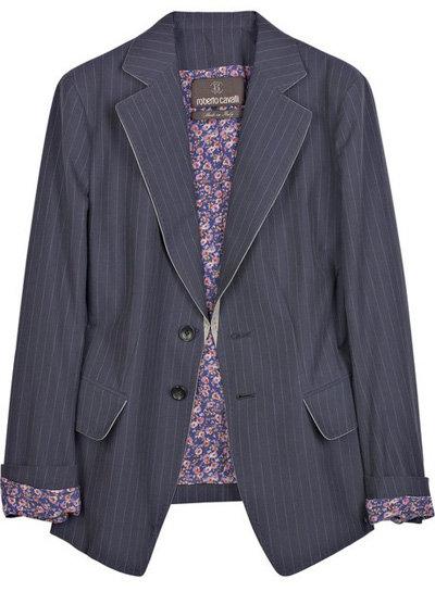Roberto Cavalli Pinstripe Cotton Blazer
