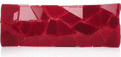 Maison Martin Margiela Reflector-Embellished Leather Clutch