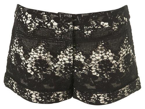 Lace Turned up Shorts