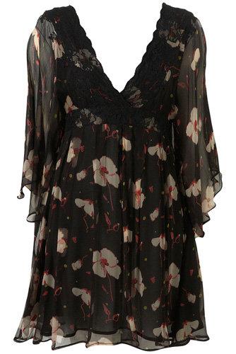 Poppy Lace Chiffon Dress