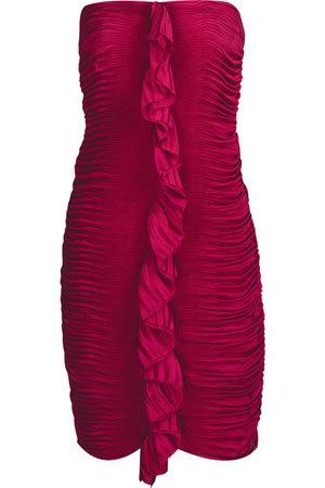 Diane Von Furstenberg Fermina Pleated Satin Dress