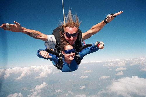 Skydiving Wedding