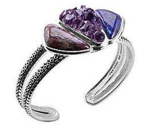 "Barse ""Purple Drusy"" Cuff Bracelet"