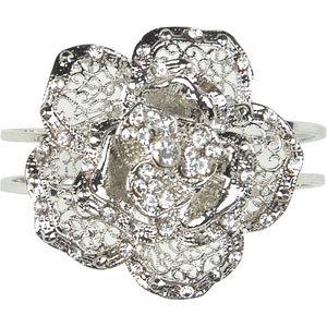 FULL TILT Flower Stone Cuff Bracelet