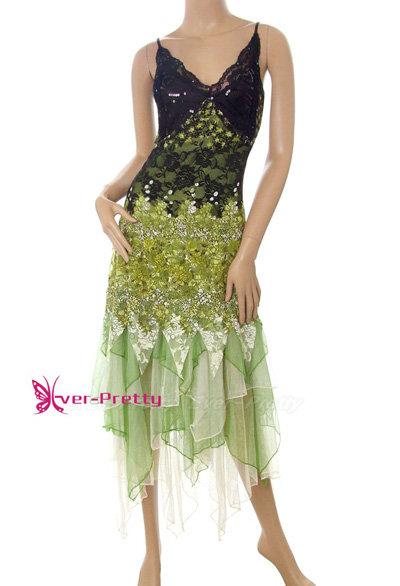 Green Lace Long Evening Dress