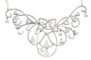27 Carat Cubic Zirconia Sterling Silver Necklace