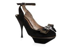Black Suede High Heel Shoes