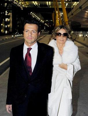 Geri Halliwell and Fabrizio Politi