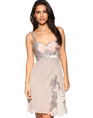 Karen Miller Contrast Lace Lingerie Dress