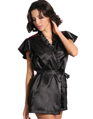 O Lingerie Satin Short Robe