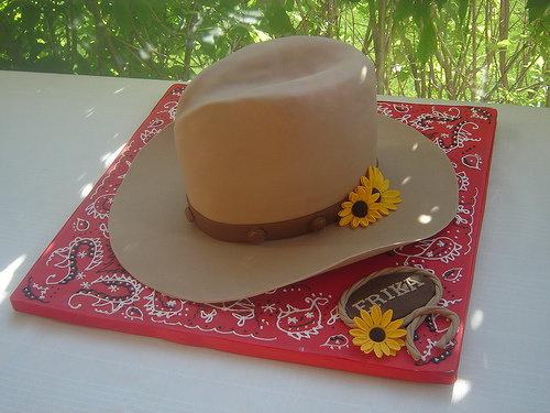 Wearing a Cow Boy Hat