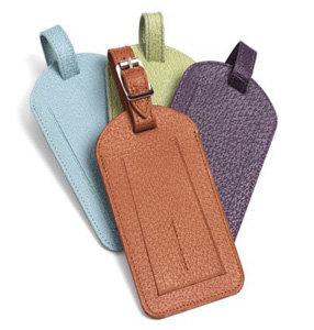 Handmade Leather Luggage Tags