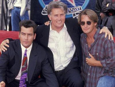 Martin and Charlie Sheen and Emilio Estevez