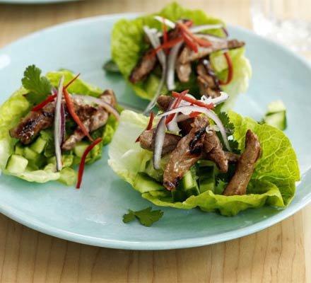Teriyaki Beef and Lettuce Cups