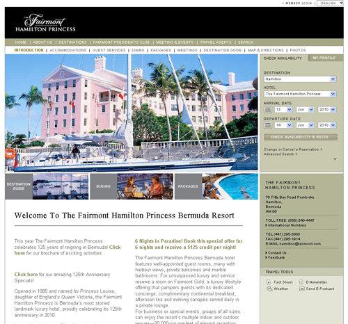 Fairmont Princess Hotel, Bermuda