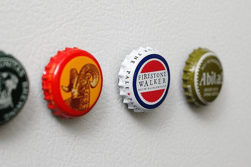 Bottle Cap Pins or Magnets