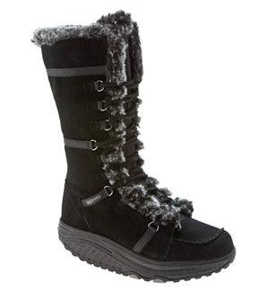 Skechers Women's Shape-Ups Pull over Fur Lined Boot