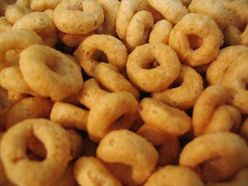 Handful of Honey-nut Cheerios