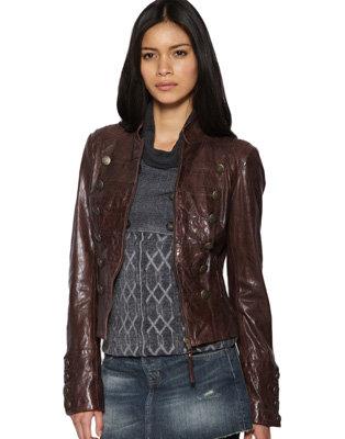 Urban Code Military Style Leather Jacket