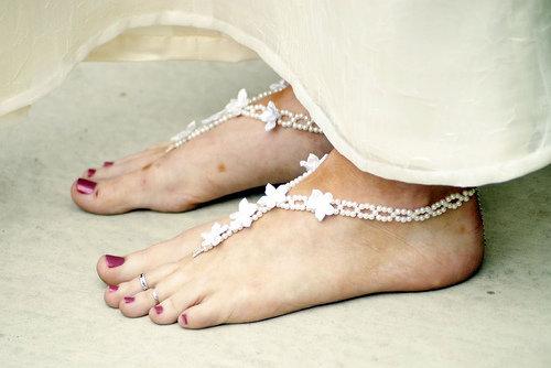 Bare Feet with Feet Jewelry