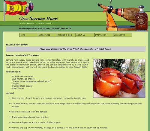 Serrano Ham Stuffed Tomatoes