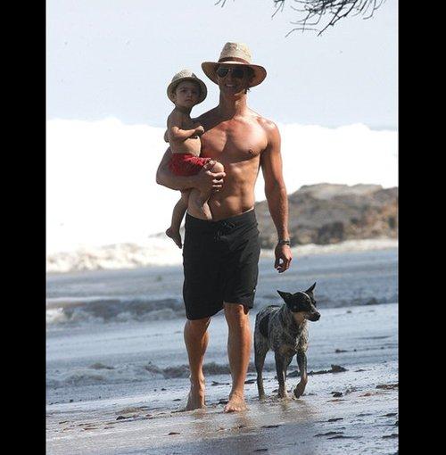 Matthew McConaughey, Camilla Alves, and Family