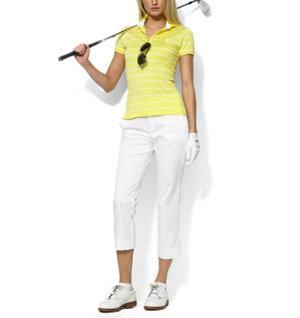 Ralph Lauren Golf Cece Jersey Striped Polo