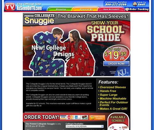 Collegiate Snuggie